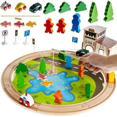 ISO 11221 Dřevěná železnice-koleje rybník