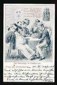 Jeseník K4143 Lipová humorná koláž DA r.1899