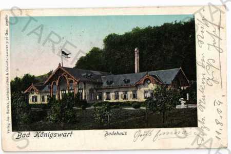 Lázně Kynžvart Cheb lázeňský dům  DA - Pohlednice