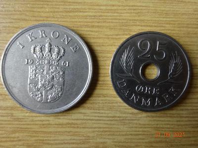 mince Dánsko - koruna, ore