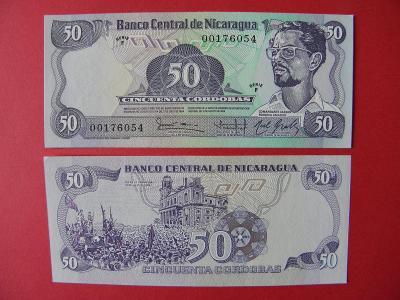 50 Cordobas 1984(1985) Nicaragua - P140 - UNC - /I187/