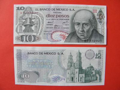 10 Pesos 16.10.1974 Mexico - P63g - UNC - /I188/