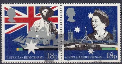 Austrálie 1988 Mi.1114-1115 prošla poštou, pár , katalog= 5€/ 125,-Kč