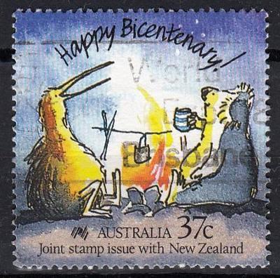 Austrálie 1988 Mi.1118 prošla poštou