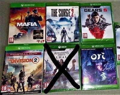 Set 5 her na Xbox one - NOVÉ