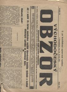 Východočeský obzor, ročník IX., číslo 26/1913 (novin