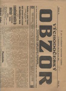 Východočeský obzor, ročník IX., číslo 25/1913 (novin