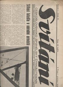 Svítání, ročník I., číslo 21./1938. Československo -