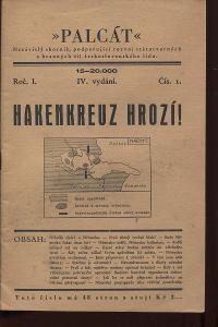 Palcát, ročník I., číslo I. Hakenkreuz hrozí!
