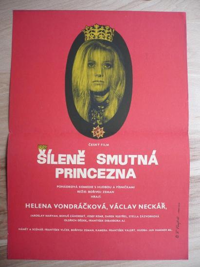 Šíleně smutná princezna (filmový plakát, film ČSSR 1 - Antikvariát