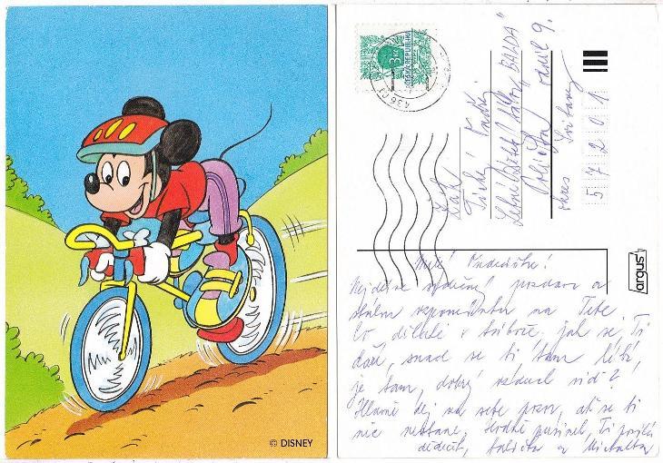 Dětská kreslená pohlednice - Pohlednice