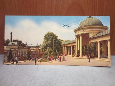 Mariánské lázně - originální panoramatická pohlednice