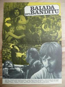 Balada pro banditu (filmový plakát, film ČSSR 1978, rež