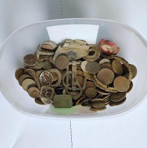Konvolut nalezených, kopaných artefaktů a mincí!!!