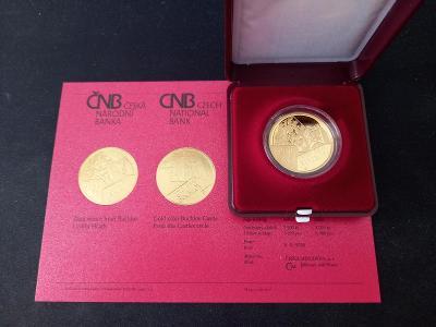 Zlatá mince 5000 Kč hrad Buchlov PROOF