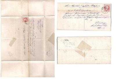 Skládaný dopis 1875, Děčín