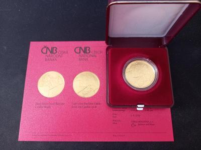 Zlatá mince 5000 Kč hrad Buchlov BK