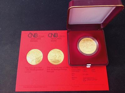 Zlatá mince 5000 Kč město Cheb BK