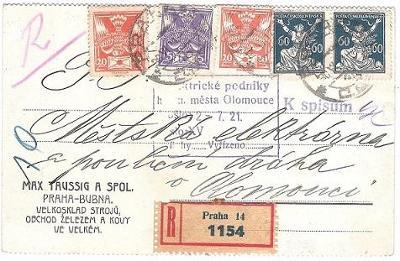 R kor. lístek 1921