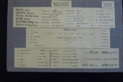 STARÁ VOJENSKÁ MAPA NA PLÁTNĚ!!! NÁCHOD 1927
