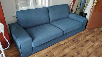 NOVÁ! KIVIK (IKEA) 3místná pohovka, Hillared tm.modrá
