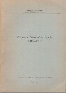 Z historie Národního divadla 1883 - 1983