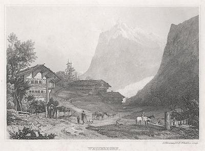 Wetterhorn, Winkles, oceloryt, (1840)