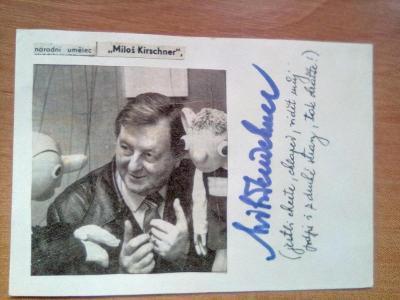 autogram -MILOŠ KIRSCHNER /2x podpis/