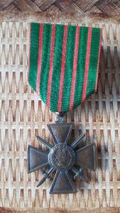 Francie starý Válečný kříž s meči 1914-1917  originál