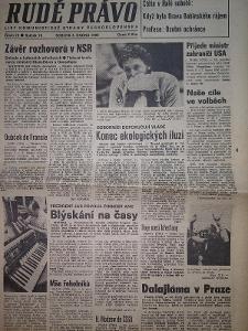 Rudé Právo 3.2.1990 Dalajláma v Praze. Kompletní vydání