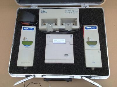 Policie VB 2x alkohol tester DRAGER SAFETY s příslušenstvím + kufr