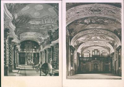 25A852 Praha Klementinum - Zrcadlová kaple, Starý sál knihovny