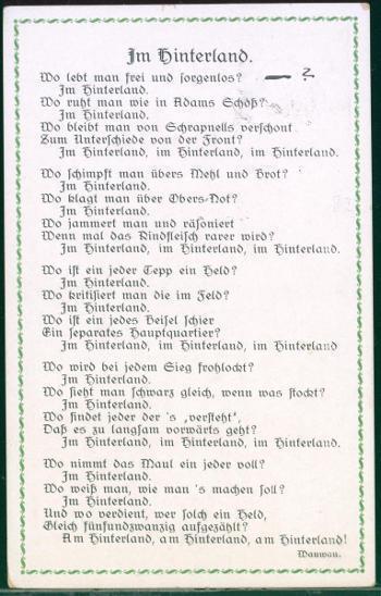 25A424 Báseň Im Hinterland / Ve vnitrozemí