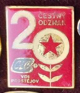 P67 Odznak Cíl VDI Prostějov  22x18mm  1ks