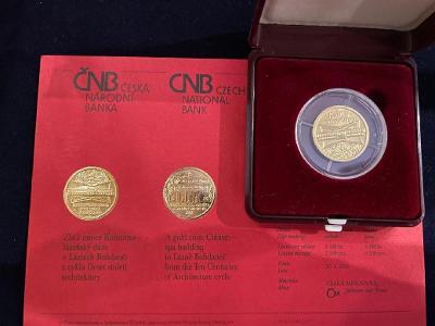 Zlatá mince 2000Kč Lázně Bohdaneč  2005  BK.