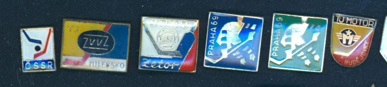 P52a Odznak Lední hokej 1969, TJ Motor Č. Budějovice  - 6ks