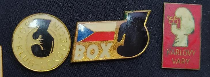 P52a Odznak BOX - klub LOKO Děčín, Karlovy Vary 1965