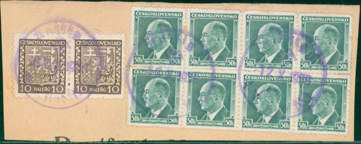 12B302 Böhmen- Mähren, výstřižek  AUSSIG-  ÚSTÍ n.L. 17.X. 1938 RARITA