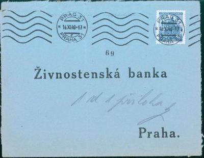 12B319 Služební dopis - Živnostenská banka Praha
