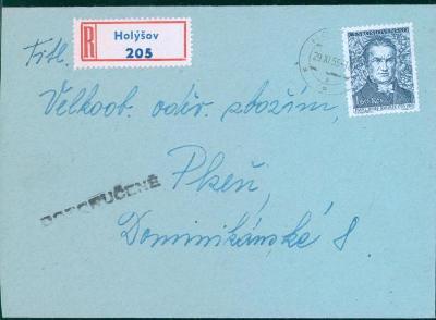 11B420 R dopis Holýšov - Plzeň
