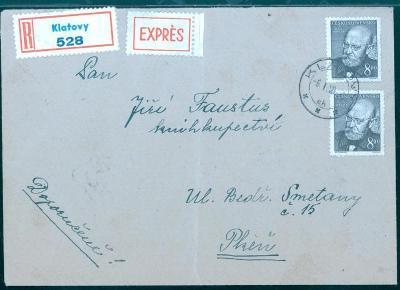 11B428 R expres dopis Klatovy - knihkupectví Faustus Plzeň