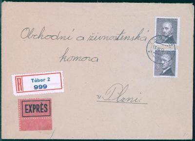 11B431 R expres dopis Tábor - Obch. a živnostenská komora Plzeň