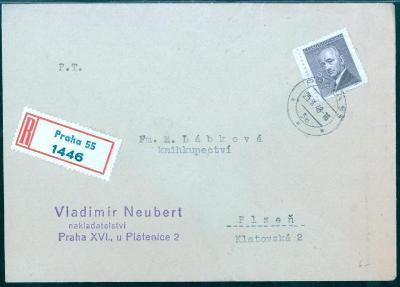 11B432 R dopis nakladatelství Neubert Praha - Plzeň
