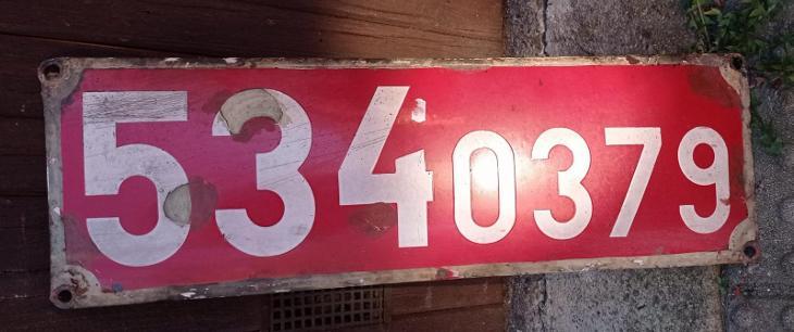 """Cedule z parní lokomotivy 534 0379 """"KREMÁK"""" - Ostatní"""