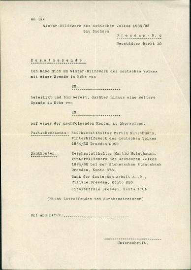 "2A885 G. Zimmermann Plavno -tiskopis pro ""Winterhilfe 1934/35, Dresden"