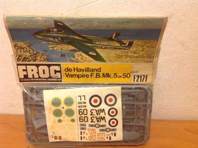 FROG - de Havilland Vampire F.B.Mk. 5 or 50, 1/72