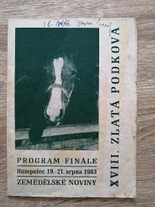 PROGRAM - FINÁLE - 14. ZLATÁ PODKOVA - Humpolec - rok 1983