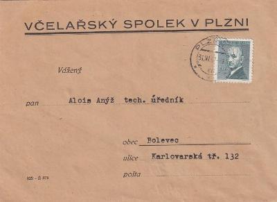 Obálka Včelařský spolek, Plzeň
