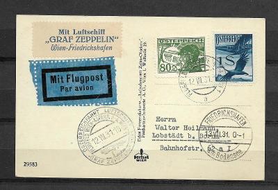 Graf Zeppelin Österreichfahrt 12.7.1931, Sg.118B, vys.kat.