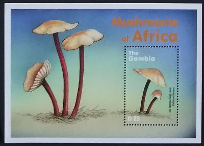 Gambie 2000 Bl.464 7€ Houby a flora, Collybia marasmioides